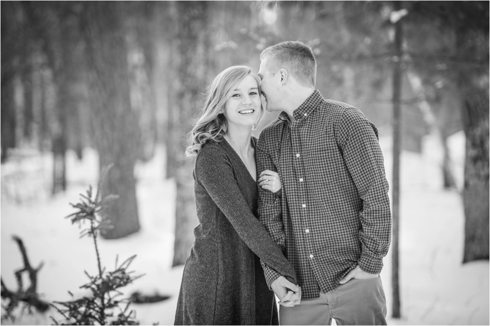 crosslake mn winter engagement session